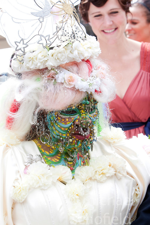 Elaine Davidson, the world's most pierced woman, got married in Edinbugh to Douglas Watson..
