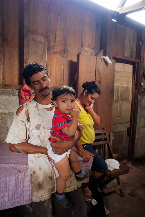 Community El Tigre, Yal&iacute;, Jinotega - Nicaragua 10-2014<br /> Photography by Aaron Sosa<br /> <br /> Cooperative El Polo Project<br /> Farm Las Quebraditas<br /> Mr. Francisco Blandon Cruz<br /> <br /> In this farm is one of the Biodigestores, harvest time when the first coffee bean washing water is taken as the ferment produces gas that is needed for use in the kitchen. The gas can be obtained by fermentation of animal manure.<br /> <br /> In this series of images Mr. Francisco Blandon shows us how to feed the biodigester with animal manure.