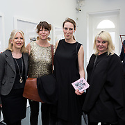 """18.05.2018.          <br /> More than 500 people attended the flagship event of the inaugural Unwrap LSAD Fashion Festival in Limerick.<br /> <br /> Pictured at the event were, Colette Real, Stephanie O'Keeffe, Ruth Duignan and Tracy Fahy.<br /> <br /> The Limerick School of Art & Design, LIT, Fashion Design Graduate Exhibition and launch of the """"The Fashion Film"""" at Limerick City Gallery of Art, in partnership with EVA International, attracted hundreds of people from the world of fashion. <br /> <br /> A total of 27 fashion graduates presented their designs alongside the specially commissioned film by fashion stylist and creative director Kieran Kilgallon and videographer Albert Hooi. Picture: Alan Place"""