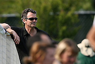 25 April 2008: Former United States head coach Anson Dorrance watches practice. The United States Women's National Team held a training session in WakeMed Stadium, formerly SAS Stadium, in Cary, NC.