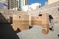 "art installation by Damian Ortega called ""Talking Wall"" at 2015 Sharjah Biennial art festival in Sharjah united Arab Emirates"
