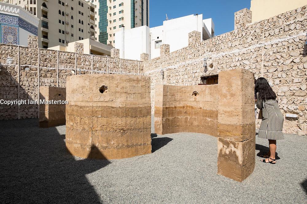 "art installation by Damian Ortega called ""Talking Wall"" at 2015 Sharjah Biennial art festival in Sharjah united Arab Emirates"