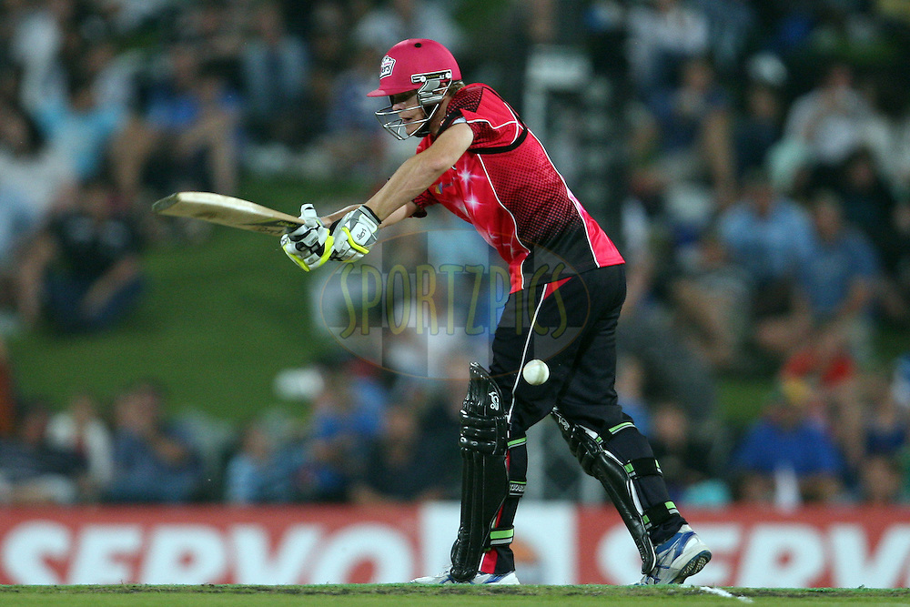 Steve Smith during the 2nd semi-final in the Karbonn Smart CLT20 between the Sydney Sixers and the Titans held at Supersport Park, Centurion, South Africa on the 26th October 2012. Photo by Jacques Rossouw/SPORTZPICS/CLT20