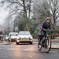 Nederland, Hilversdum, 18 januari 2017.<br />Giel Claessens rijdt een supersnelle e-bike: hij mag er niet mee op het fietspad maar op de weg begrijpen ze hem niet<br /><br /><br />Foto: Jean-Pierre Jans