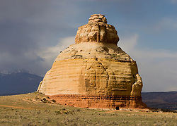 Church Rock, next to US Highway 191, south of Moab, Utah.