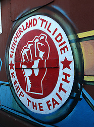 View of Sunderland Graffiti - Photo mandatory by-line: Richard Martin-Roberts/JMP - Mobile: 07966 386802 - 21/02/2015 - SPORT - Football - Sunderland - Stadium of Light - Sunderland v West Bromwich Albion - Barclays Premier League