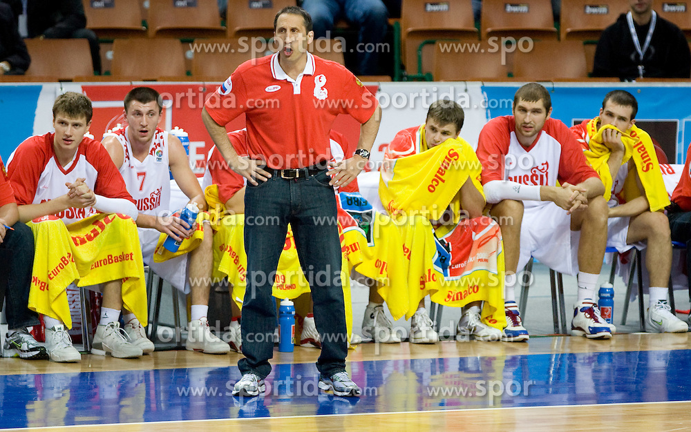 Coach David Blatt of Russia during the EuroBasket 2009 Quaterfinals match between Russia and Serbia, on September 17, 2009 in Arena Spodek, Katowice, Poland.  (Photo by Vid Ponikvar / Sportida)