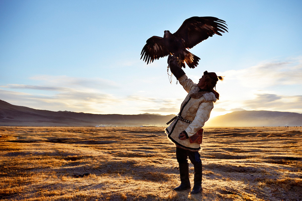 Sagsai eagle hunter, Mongolia.