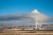 Bentonite processing plant in the Bighorn Basin of Wyoming