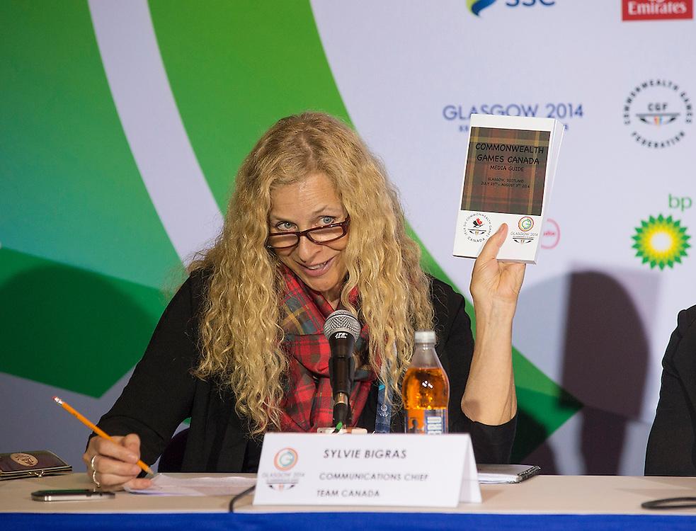 Glasgow, JULY 22, 2014: Canada Press Conference