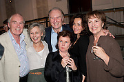 IAN MCELHINNEY; DIANA HARDCASTLE; TIM PIGOTT-SMITH; LUCY COHU; IMELDA STAUNTON; PENELOPE WILTON, Press night for Edwards Albee's A Delicate Balance at the Almeida Theatre. London. 12 May 2011. <br /> <br />  , -DO NOT ARCHIVE-© Copyright Photograph by Dafydd Jones. 248 Clapham Rd. London SW9 0PZ. Tel 0207 820 0771. www.dafjones.com.