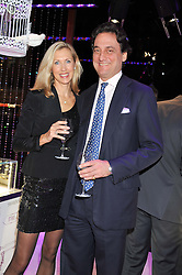 COUNT & COUNTESS ALLESANDRO GUERRINI-MARALDI at a reception to celebrate the launch of 'A Crystal Christmas'  - inspired by Swarovski and held at Harrods, Knightsbridge, London on 8th November 2011.  Following the reception a private dinner was held at One Hyde Park, Knightsbridge.