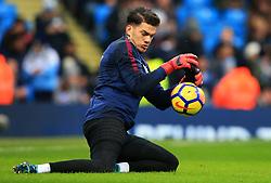 Ederson of Manchester City warms up - Mandatory by-line: Matt McNulty/JMP - 23/12/2017 - FOOTBALL - Etihad Stadium - Manchester, England - Manchester City v Bournemouth - Premier League