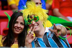 Torcedores do Brasil durante a cerimônia de abertura da Copa das Confederações, realizada no Estádio Nacional Mané Garrincha, em Brasília, antes da partida entre Brasil e Japão. FOTO: Jefferson Bernardes/Preview.com