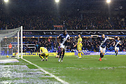 Birmingham City striker Clayton Donaldson (9) turns away after scoring during the Sky Bet Championship match between Birmingham City and Sheffield Wednesday at St Andrews, Birmingham, England on 6 February 2016. Photo by Chris Wynne.