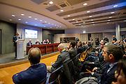 Rome dec 15th 2015, Direzione Investigativa Antimafia (Anti-Mafia Investigations Bureau) annual report. In the picture the speeching of Nunzio Antonio Ferla