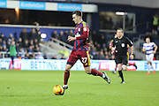 Ipswich Town forward Tom Lawrence (27) dribbling during the EFL Sky Bet Championship match between Queens Park Rangers and Ipswich Town at the Loftus Road Stadium, London, England on 2 January 2017. Photo by Matthew Redman.