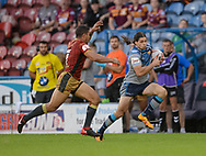 Jake Mamo of Huddersfield Giants makes a break during the Ladbrokes Challenge Cup match at the John Smiths Stadium, Huddersfield<br /> Picture by Richard Land/Focus Images Ltd +44 7713 507003<br /> 31/05/2018