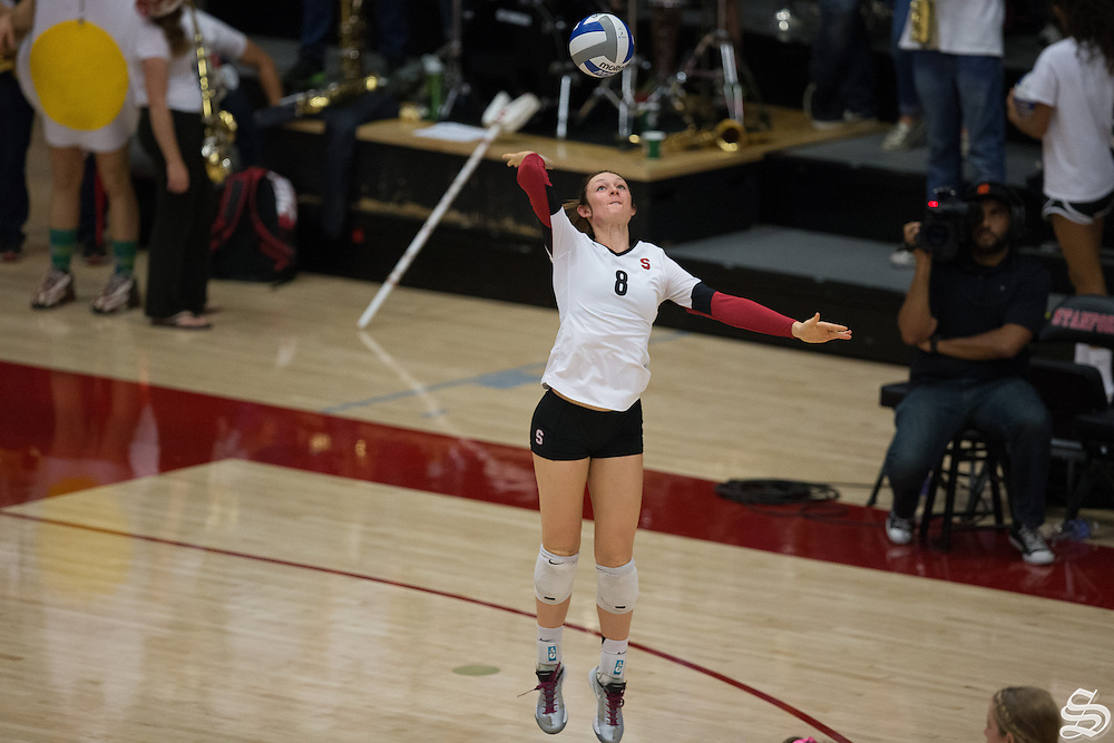 Megan McGehee (8), Women's volleyball v. ASU