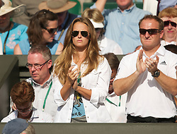 LONDON, ENGLAND - Wednesday, June 30, 2010: Andy Murray's girlfriend Kim Sears watches as he plays the Gentlemen's Singles Quarter-Final on day nine of the Wimbledon Lawn Tennis Championships at the All England Lawn Tennis and Croquet Club. (Pic by David Rawcliffe/Propaganda)