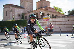 Giorgia Bronzini (ITA) of Cylance Pro Cycling leans into the final corner on Stage 1 of the Madrid Challenge - a 12.6 km team time trial, starting and finishing in Boadille del Monte on September 15, 2018, in Madrid, Spain. (Photo by Balint Hamvas/Velofocus.com)