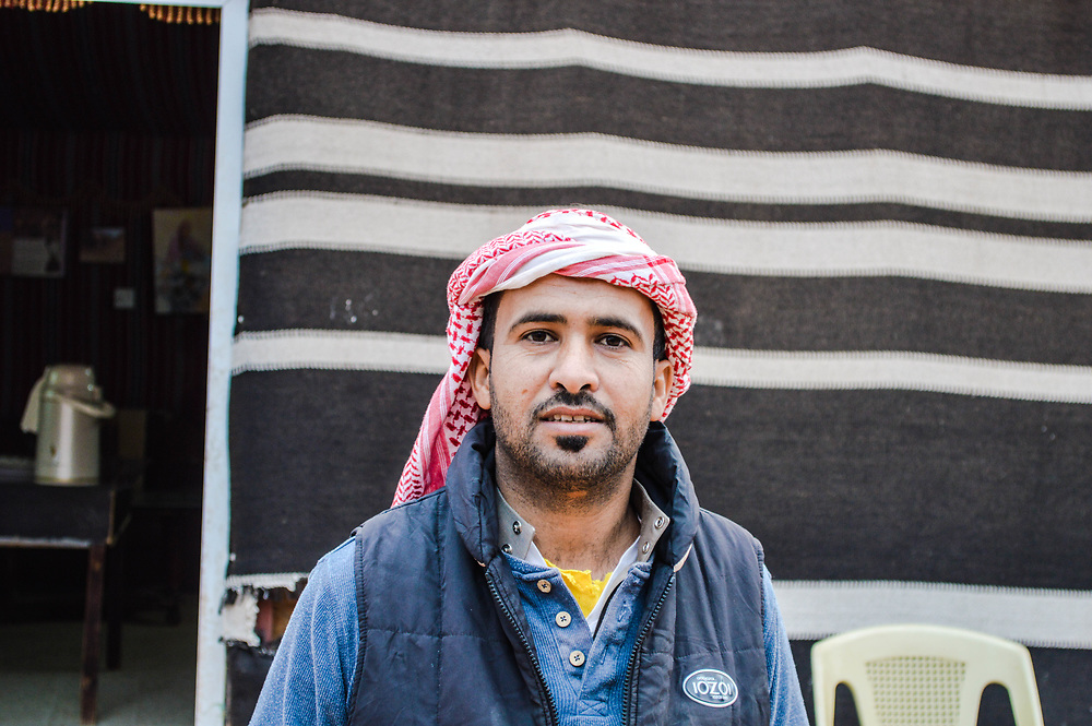 This was Saleh our tour guide in the desert of Wadi Rum Jordan.