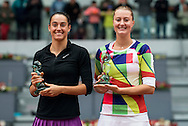 Caroline Garcia and Kristina Mladenovicduring the Madrid Open at Manzanares Park Tennis Centre, Madrid<br /> Picture by EXPA Pictures/Focus Images Ltd 07814482222<br /> 07/05/2016<br /> ***UK & IRELAND ONLY***<br /> EXPA-ESP-160507-0023.jpg