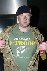 "The Hubs, Hallam Union, Paternoster Row plays host to Sheffield's biggest Fancy Dress Ball. More than 900 people in fancy dress to raise money for Cancer Research on Saturday night .Millwall F troop ""terrorising England For 30 Years"" Dan Ambler..6 April  2013.Image © Paul David Drabble"