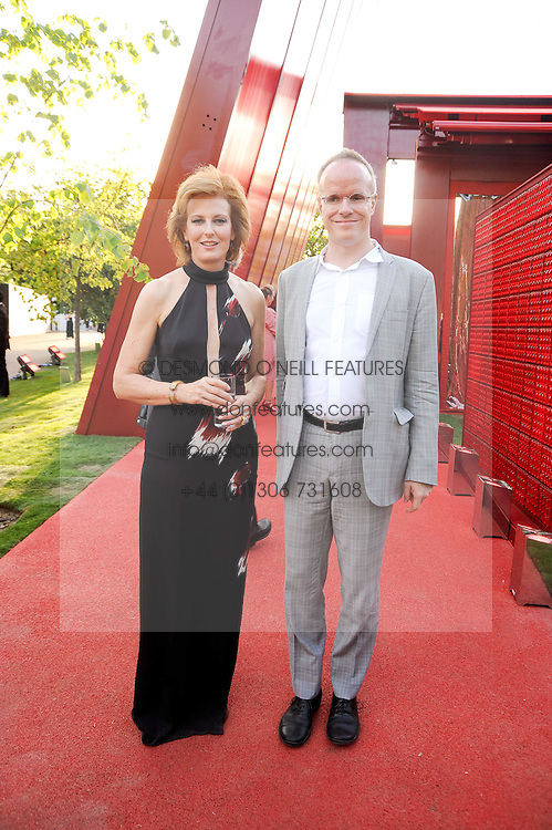HANS ULRICH OBRIST and JULIA PEYTON-JONES  at the annual Serpentine Gallery Summer party this year sponsored by Jaguar held at the Serpentine Gallery, Kensington Gardens, London on 8th July 2010.  2010 marks the 40th anniversary of the Serpentine Gallery and the 10th Pavilion.