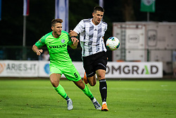 Rami Gershon of Maccabi Haifa and Luka Šušnjara of Mura during Football match between NS Mura (SLO) and Maccabi Haifa (IZR) in First qualifying round of UEFA Europa League 2019/20, on July 18, 2019, in Stadium Fazanerija, Murska Sobota, Slovenia. Photo by Blaž Weindorfer / Sportida