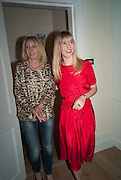 MARY POWYS; RUTH POWYS; , Party given by Basia Briggs and Richard Briggs at their home in Chelsea. London. 14 May 2012