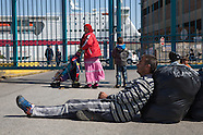 Refugees shut out, Piraeus 21.04.16