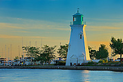 Lighthouse on Lake Ontario at Port Dalhouise<br /> St. Catharines<br /> Ontario<br /> Canada