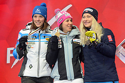 February 8, 2019 - Are, Sweden - PETRA VLHOVA of Slovakia (left) , WENDY HOLDENER of Switzerland (center) and RAGNHILD MOWINCKEL of Norway  with their medals from the Ladies Alpine Combined ski race at the FIS Alpine World Ski Championships in Are Sweden. (Credit Image: © Christopher Levy/ZUMA Wire)