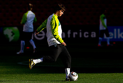 Rene Krhin of Slovenia warm up during training session at Ellis Park on June 17, 2010 in Johannesburg, South Africa. Slovenia will play their next FIFA World Cup Group C match against USA at Ellis Park in on Friday June 18, 2010, in Johannesburg, South Africa. (Photo by Vid Ponikvar / Sportida)