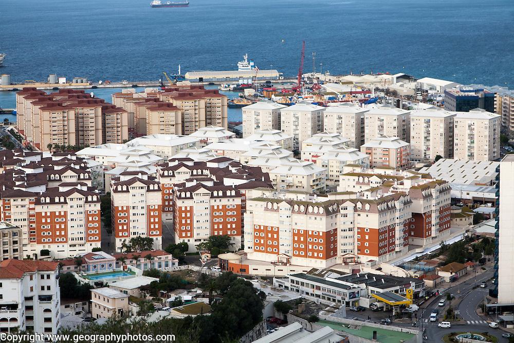 High density modern apartment block housing, Gibraltar, British overseas territory in southern Europe