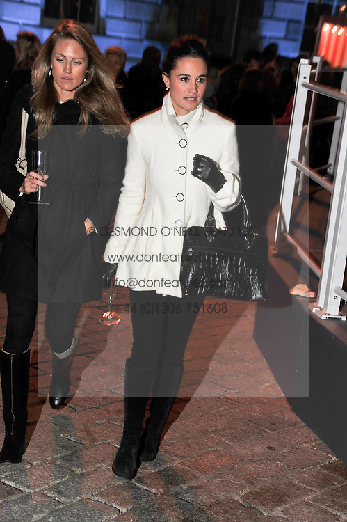 Right, PIPPA MIDDLETON at a Winter Party hosted by Tiffany to celebrate the opening of the Ice Rink at Somerset House for Christmas 2011 held on 21st November 2011.