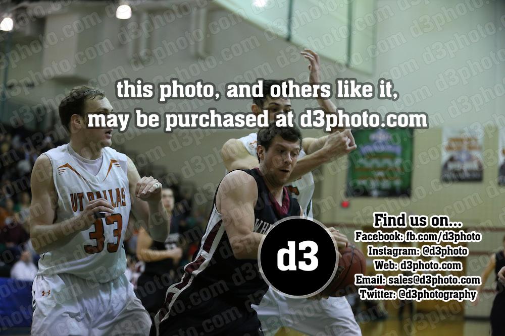 2014 NCAA Division III Men's Basketball Round 2 Playoff,140308-WHTW-UTD,University of Texas - Dallas,Photo Taken by: Joe Fusco, d3photography.com,Whitworth's #1 - Robby Douglas,UT Dallas's #33 - Dmitriy Chernikov,UT Dallas's #35 - Kyle Schleigh