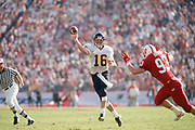 COLLEGE FOOTBALL:  Stanford vs Cal in the Big Game on November 20, 1993 at Stanford Stadium in Palo Alto, California.  Dave Barr #16, Matt Harper #93.  Photograph by David Madison (WWW.DAVIDMADISON.COM).