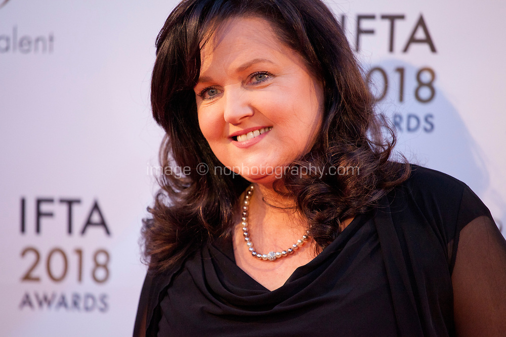 Aine Moriarty at the IFTA Film & Drama Awards (The Irish Film & Television Academy) at the Mansion House in Dublin, Ireland, Thursday 15th February 2018. Photographer: Doreen Kennedy