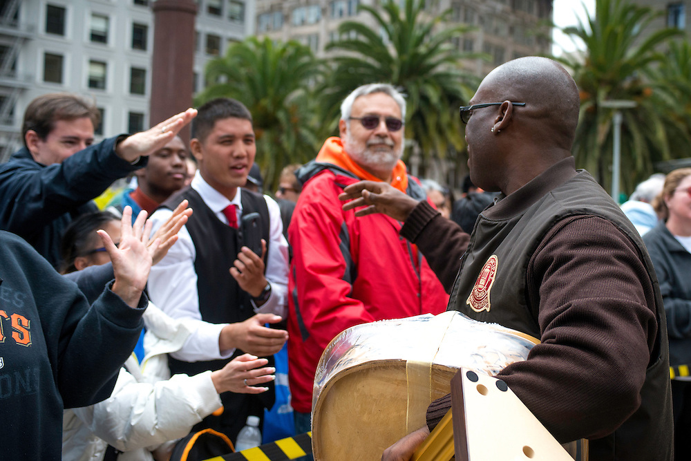 Trini Whittaker greats his fans after winning the 50th Cable Car Bell Ringing Competition | July 11, 2013