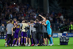 Players of NK Maribor celebrate after football match between NK Maribor and Hapoel Beer-Sheva in Second leg of UEFA Champions League playoff round, on August 22 2017 in Ljudski vrt, Maribor, Slovenia. Photo by Morgan Kristan / Sportida