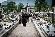 Rovetta, Bergamo, Italy, 27 maggio 2012. Commemorazione dei 43 militi della Tagliamento della RSI, uccisi il 28 aprile del 1945.Padre Giulio Tam.