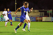 AFC Wimbledon midfielder Tom Beere (16) goes on the attack during the EFL Trophy match between AFC Wimbledon and U23 Swansea City at the Cherry Red Records Stadium, Kingston, England on 30 August 2016. Photo by Stuart Butcher.
