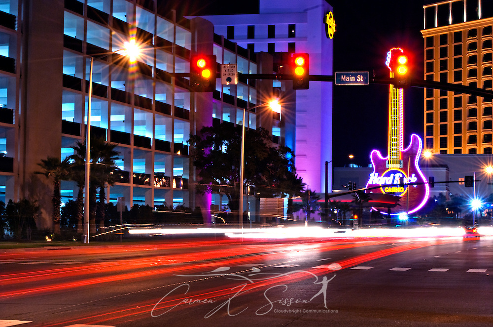 Traffic streams past the Hard Rock Cafe in Biloxi, Mississippi, Sept. 22, 2010. (Photo by Carmen K. Sisson/Cloudybright)