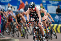 Vicky Holland (GBR). Vitality World Triathlon London, Hyde Park, London, UK on 31 May 2015. Photo: Simon Parker