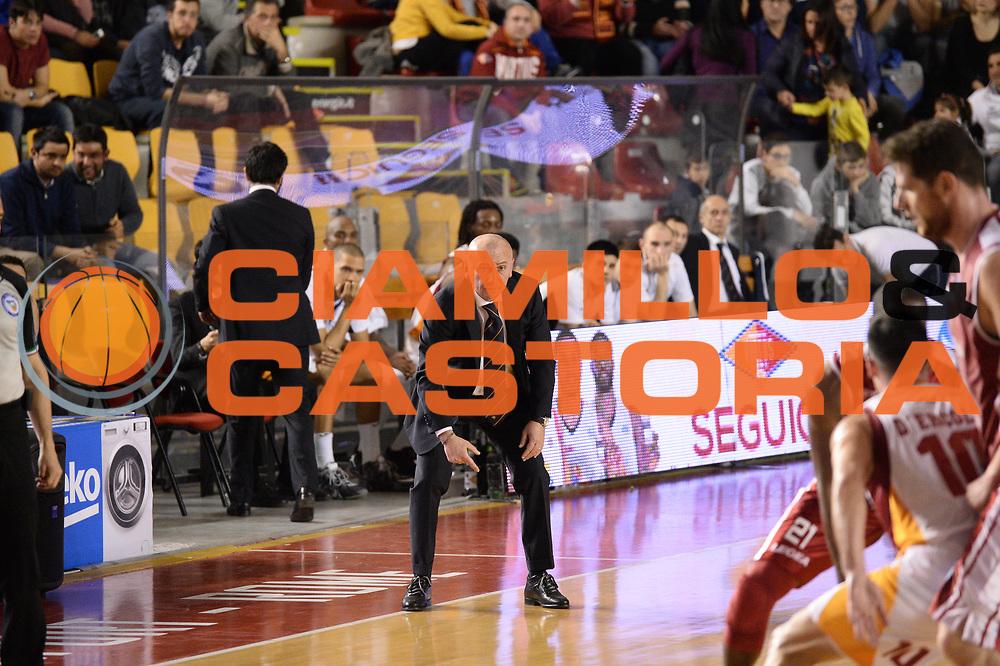 DESCRIZIONE : Roma Lega A 2014-15 Acea Virtus Roma Giorgio Tesi group Pistoia<br /> GIOCATORE : luca dalmonte<br /> CATEGORIA : curiosit&agrave;<br /> SQUADRA : Acea Virtus Roma Giorgio Tesi group Pistoia<br /> EVENTO : Campionato Lega Serie A 2014-2015<br /> GARA : Acea Virtus Roma Giorgio Tesi group Pistoia<br /> DATA : 22.03.2014<br /> SPORT : Pallacanestro <br /> AUTORE : Agenzia Ciamillo-Castoria/M.Greco<br /> Galleria : Lega Basket A 2014-2015 <br /> Fotonotizia : Roma Lega A 2014-15 Acea Virtus Roma Giorgio Tesi group Pistoia