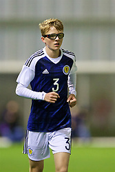 EDINBURGH, SCOTLAND - Tuesday, November 1, 2016: Scotland's Jamie Walker in action against Wales during the Under-16 2016 Victory Shield match at ORIAM. (Pic by David Rawcliffe/Propaganda)
