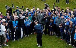 July 7, 2017 - Portstewart, Northern Ireland, United Kingdom - Northern Ireland's RORY MCILROY plays out of the rough during the second round of the Dubai Duty Free Irish Open in Portstewart, Northern Ireland, Britain.    (Credit Image: © Paul Childs/Action Images via ZUMA Press)
