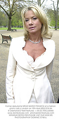 Former debutante MRAS MARGY FENWICK at a fashion photo call in London on 15th April 2002.	OYX 64